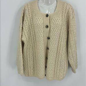 Vintage Carraig donn Oversize cable knit c…